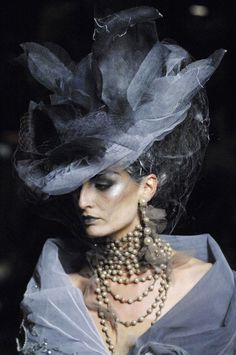 Different look. Probably not for everyone, but I find it appealing. Designer: John Galliano