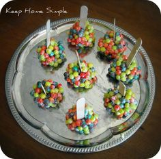 This is such a fun recipe for kids! It's pretty much just Rice Krispies treats...minus the Rice Krispies. Supplies needed: 1 box of Trix cer...