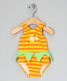 Look at this #zulilyfind! Sweet Potatoes Yellow Bee One-Piece - Infant & Toddler by Sweet Potatoes #zulilyfinds