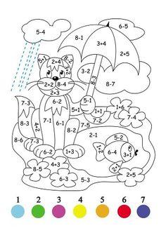 Pagini de colorat matematice. | OK.RU Math Coloring Worksheets, 1st Grade Worksheets, 1st Grade Math, Preschool Education, Preschool Activities, Teaching Kids, Teacher Cards, Teacher Planner, Math For Kids