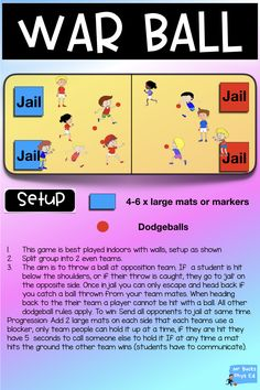 Phys Ed – Team Games This pack is great if you are looking to add new and exciting PE games Pe Games For Kindergarten, Pe Games Elementary, Elementary Physical Education, Physical Education Activities, Pe Activities, Preschool Games, Elementary Schools, Health Education, Movement Activities