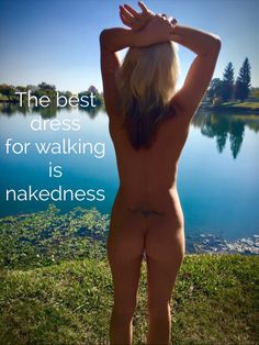 Bare naked nudist