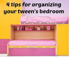 4 Tips for organizing your tween's bedroom from a professional organizer who's seen and done it all.