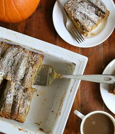 Prepare this impressive Make-Ahead Pumpkin-Cream Cheese Pancake Bake the night before. A sweet breakfast casserole by Completely Delicious that's sure to become a new favorite!