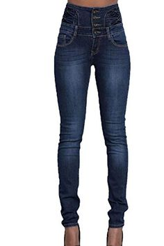 Haut femme skiinny LEG Mesdames stretch poche déchiré genou Jeans Denim Pantalons longs