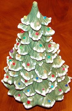 ceramic christmas tree - Porcelain Christmas Tree With Lights