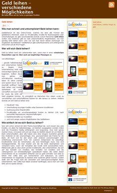 Geldleihen24 ist das Online-Portal, welches Sie über alle Formen des geldleihens informiert, seien es Privatkredite, Kredite für Businesspläne oder Umschuldungen. Es gibt verschiedenste Gründe warum Menschen Geld leihen wollen. Des Weiteren gibt es viele unterschiedliche Möglichkeiten, wie man günstig Geld leihen kann. >> Geld leihen --> http://www.geldleihen24.de