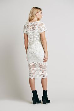 Outstanding Crochet: Crochet top and skirt from Free People.