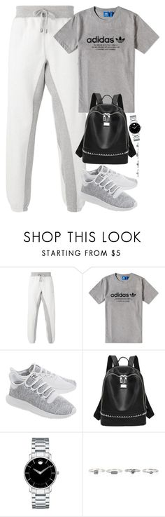 """""""Unbenannt #2343"""" by luckylynn-cdii ❤ liked on Polyvore featuring adidas, adidas Originals and Movado"""