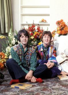 Paul and John in India 1968.