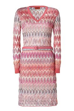 MISSONI  Pale Rose Multi Pastel Belted Dress