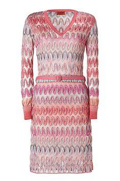 MISSONI  Pale Rose Multi Pastel Belted Dress