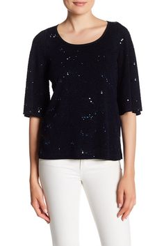Image of Grayse Sequin Scoop Blouse