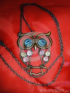 Photo about Necklace with owl pendant close-up, photographed indoors in Romania. Image of romania, purple, blue - 125256923 Owl Pendant, Romania, Close Up, Washer Necklace, Purple, Blue, Chain, Nature, Image