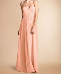 Peach bridesmaid dress Peach Colored bridesmaid by loveBaby2015, $98.00