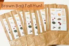 Ucreate with Kids: Brown Bag Fall Hunt by Cami at Tidbits