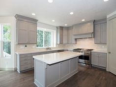 Ivory Quick Move-In Available Home in Murray, Utah - loving this gray and white kitchen! maybe with blue accents?