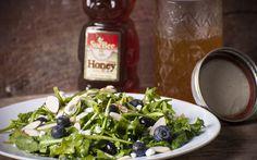Blueberry Arugula Salad With Sue Bee Honey-Lemon Dressing