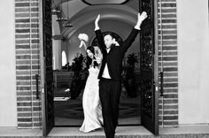 awesome bride & groom just married photo by White Haute Photography