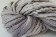 Sandstone Color Chunky Hand  Spun Hand Dyed  Roving Wool Hand Knitting Yarn. $14.00, via Etsy.