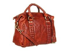 NWT  Frye Vintage Roxanne Distressed Leather Studded Satchel Tote Whiskey $598  #Frye #Satchel