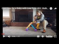 Teaching walking with a push toy