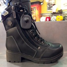 my new boots! Orlando Harley, Biker Fashion, Biker Style, Harley Davidson, Hiking Boots, Kicks, Shoes, Zapatos, Shoes Outlet