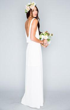 Kendall Maxi Dress - Ivory Crisp | Show Me Your MuMu