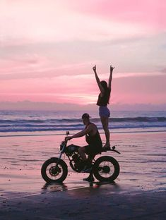 The 10 Best Places In Bali For Epic Photos - Bali Indonesia Travel Guide Motorcycle Couple Pictures, Biker Couple, Best Places In Bali, Biker Photoshoot, Bali Sunset, Motorbike Girl, Motorcycle Bike, Fotos Goals, Epic Photos