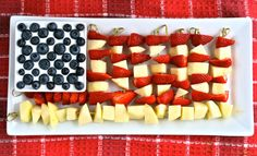 Stars and Stripes... 4th of July-themed fruit!