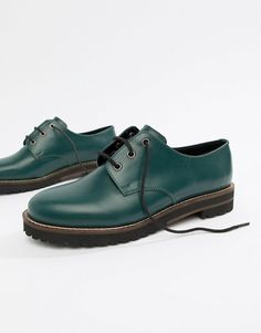 ec2e380122b DESIGN Mystify leather lace up flat shoes