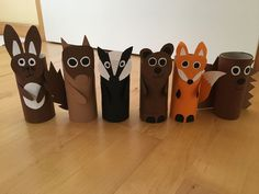 Waldtiere Klopapierrollen – Rolls of toilet paper animals from the forest – Paper Animal Crafts, Fall Paper Crafts, Animal Crafts For Kids, Thanksgiving Crafts For Kids, Paper Animals, Toddler Crafts, Diy For Kids, Toilet Roll Craft, Toilet Paper Roll Crafts