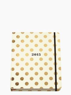2015 17-month Large Agenda - Gold Dots - kate spade new york