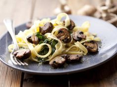 Fettuccine is famous for the Alfredo recipe, but you can do so much more with the humble pasta! One of our favorite ways to enjoy it during the warmer months is with this recipe that adds some sweet and caramelized balsamic mushrooms and spinach. It's so fresh and filling, you won't even realize you're eating vegetarian!