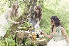 Ok, we aren't going to have a wedding in the woods but I'm hoping to bring some of the Elven/Woodland Fairy Into it.