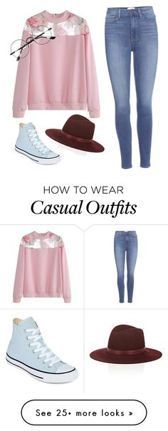 """""""Casual Everyday"""" by chibdragon on Polyvore featuring Paige Denim, Chicnova Fashion, Converse and Janessa Leone"""