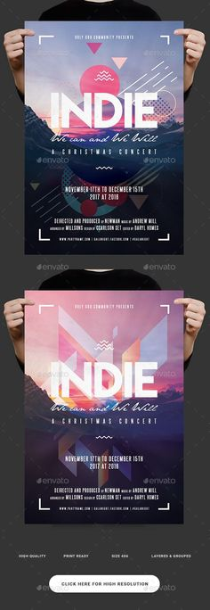 Indie Morning Flyer — Photoshop PSD #sounds #print • Download ➝ https://graphicriver.net/item/indie-morning-flyer/18779638?ref=pxcr