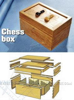 Chess Box Plans - Woodworking Plans and Projects   WoodArchivist.com