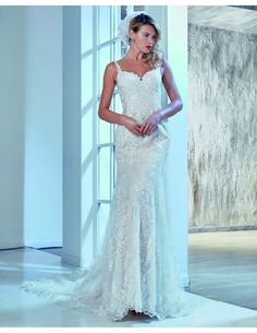 Fabulous lace mermaid dress available at Spotlight Formal Wear! #SpotlightBridal