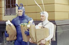 I think Brian and I would look fabulous in these costumes for comic con