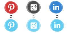 Round-up of free #socialmedia icons. #canva #marketing