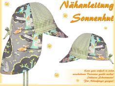 Sonnenhut, Sommerhut für Kinder mit Krempe selber nähen, Schnittmuster, Anleitung, Nähanleitung