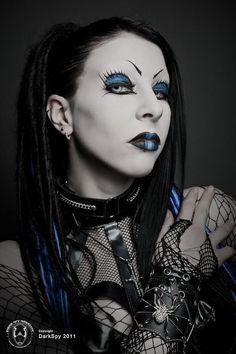 gothic model nox misery | Found on evilblackbloodyangel.tumblr.com