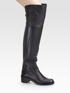 Gucci - Soho Over-The-Knee Leather Boots - Saks.com