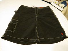 Ralph Lauren Mens swim trunks board shorts M 4179666 SSWW BSR black cp3873 NWT #PoloRalphLauren #BoardSurfswim