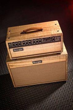 Mesa Boogie in natural wood. Diy Guitar Amp, Guitar Cabinet, Valve Amplifier, Cool Electric Guitars, Bass Amps, Cool Gear, Pedalboard, Guitar Pedals, Custom Guitars