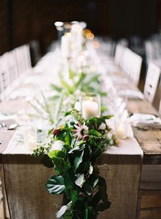 romantic + natural table settings