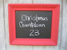 Red Shabby Chic Chalkboard