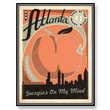 Atlanta Vintage Postcard