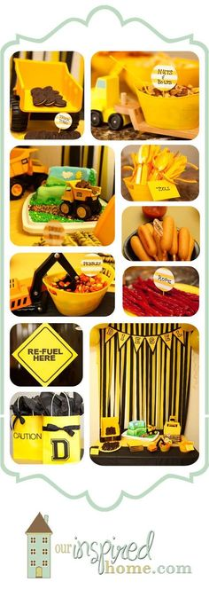 New Dump Truck Birthday Party Ideas Construction Theme Baby Shower 63 Ideas Construction Birthday Parties, 4th Birthday Parties, Baby Birthday, Birthday Ideas, Themed Parties, Third Birthday, 1st Birthdays, Construction Cupcakes, Construction Party Decorations